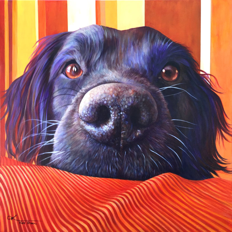 "Nose; Acrylic on Canvas - 24"" x 24"" - SOLD By Kate Green"